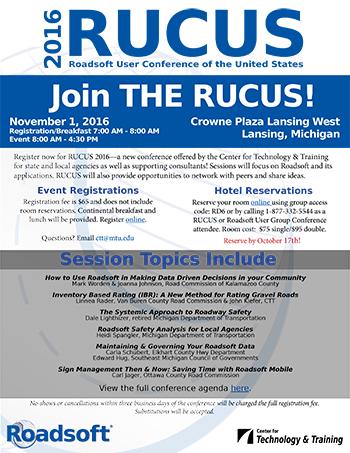 RUCUS 2016 Details
