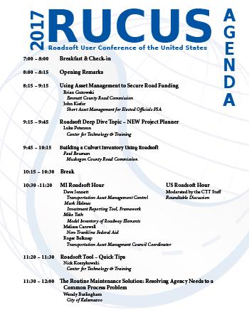 RUCUS 2017 Agenda